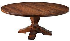 [+2]  MacKenzie-Dow Fine Furniture Round Sheffield Pedestal Dining Table, 60-Inch Diameter