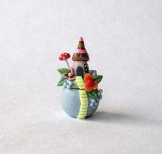 Miniatur Whimsical Fairy Haus am Hügel geheime von ArtisticSpirit