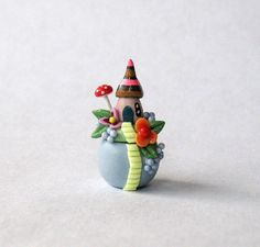 Miniature Whimsical Fairy House On Hill Secret Box OOAK by C. Rohal on Etsy, $26.50