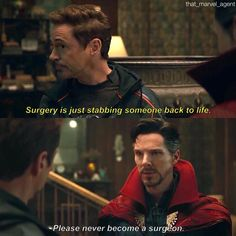 Funny thing is, as the two Sherlocks talking, one of them did technically invent a thing that stabbed them back to life (TALKING TO YOU RDJ SHERLOCK AND YOUR WEDDING PRESENT)