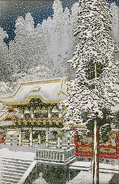 Large image of your selected item (Chinese and Japanese woodblock prints for sale, silkscreen, scrolls, watercolor, lithographs) Japanese Art Modern, Japanese Prints, Japanese Landscape, Illustrations, Illustration Art, Art Occidental, Japan Painting, Art Japonais, Winter Pictures