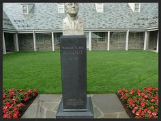 FDR Bust in front of the FDR Library in Hyde Park NY.