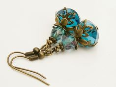 INSPIRATION ONLY..................Turquoise Czech Beads