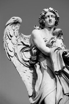 Angel Statue by Gmomma Cemetery Angels, Cemetery Statues, Cemetery Art, Angel Statues, Angels Among Us, Angels And Demons, Sculpture Art, Sculptures, Tattoo Sleeves