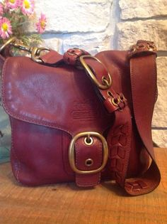 9e2ce0bbd97f COACH Whiskey Wine Leather Legacy Tattersall Bleecker Vintage Flap Satchel  11419  Coach  ShoulderBag Leather