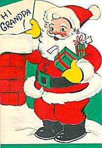 Vintage Greeting cards Christmas Unused 1940s Grandpa Santa (Image1)