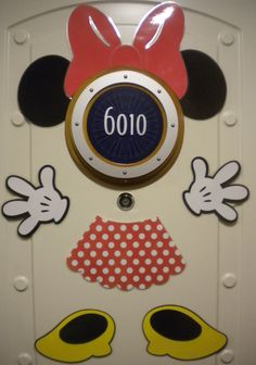 Get creative with your stateroom door by adding magnetic decorations