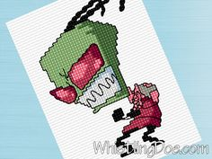 Crochet Invader Zim Patterns : Cross stitch patterns, Stitch patterns and Cross stitch on Pinterest