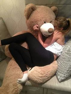 when you are feeling lonely, get an oversized teddy bear! Men are overrated! lol