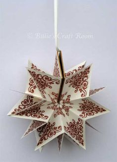 Star Book Tutorial from Billie's Craft Room - combines origami with making the book! Love it!
