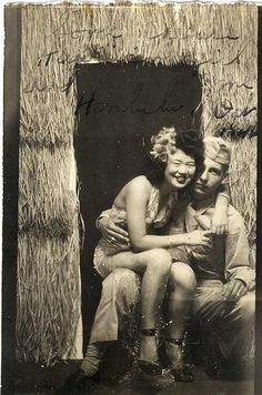 1940s couple in Hawaii
