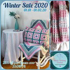 Marie Whimsy Crochet (@mariewhimsycrochet) • Instagram-bilder og -videoer Winter Sale, Cushion Covers, Blanket, Crochet, Instagram, Crochet Hooks, Blankets, Shag Rug, Crocheting