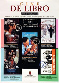 Cine de libro: XVI Feria del Libro / [patrocinado por] Consejería de Cultura y Educación, Dirección General de Cultura (2001)