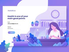 Insurance landing page concept designed by Aliffajar. Connect with them on Dribbble; Website Illustration, Bike Illustration, Graphic Design Illustration, Graphic Art, Landing Page Inspiration, App Design Inspiration, Ui Design Patterns, Mobile Application Design, Website Design Layout