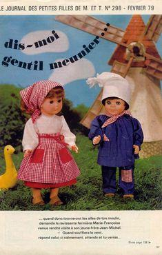 PAR AMOUR DES POUPEES :: m&t 1979-02 Marie-françoise en fermière (couture)