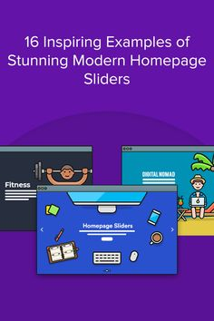 Modern homepage sliders have evolved beyond the basic slideshows that were everywhere five years ago. Let's take a look at some homepage slider examples, and create your own. Grid Layouts, Call To Action, Lonely Planet, Sliders, Wordpress, Web Design, Create, Modern, Blog