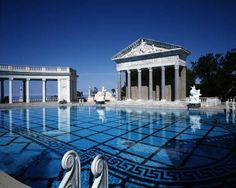 Neptune Pool at Hearst Castle, San Simeon, California, designed by Julia Morgan in 1919.