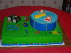 Pool Party Birthday Cake
