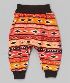 Look at this Orange Aztec Harem Pants - Infant, Toddler