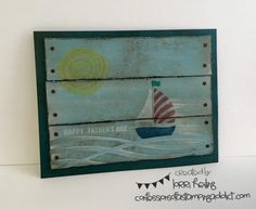 Pallet Board Card :: Confessions of a Stamping Addict Lorri Heiling Swirly Bird Summer