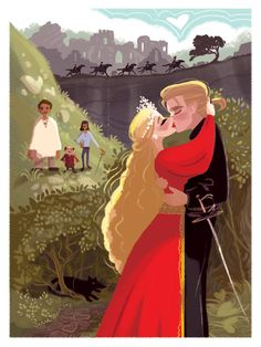 Death cannot stop true love. All it can do is delay it for a while. .....sigh.... I love this story! An illustration inspired by The Princess Bride.
