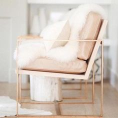 Redford House Blush Pink Leather With Gold Metal Frame Manhattan Lounge Chairs - a Pair - Image 4 of 4