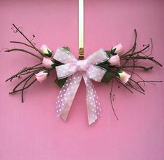 Floral Swags Valentine Swag Flower Swag Door by AHolidayShoppe