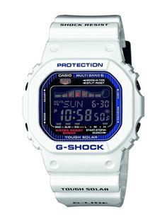 Casio - GWX-5600C-7ER - G-Shock - Montre Homme - Quartz Digital - Cadran Noir - Bracelet Résine Blanc: Amazon.fr: Montres