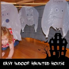 diy haunted house ideas | Non-scary Haunted House for kids for Halloween Obstacle Course from ...