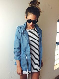 denim + stripes
