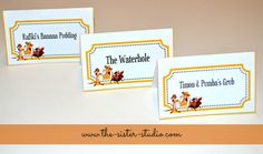 This listing is for 12 custom place cards. These are a great addition for any buffet or party. You can also use these for seating at a birthday,