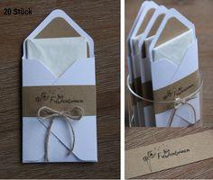 *****Es ist Hochzeitssaison! Bitte rechtzeitig bestellen**!***  Für Freudentränen....  ...eurer Gäste könnt Ihr diese hübsch verpackten Taschentücher (20 Stück) bereitlegen. Jedes Taschentuch...