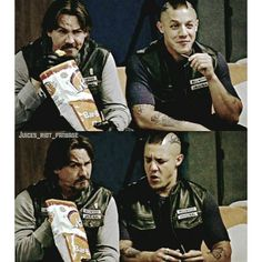 My favorite scene with Chibs and Juice ||Chibs has a bit of a Johnny Depp vibe in that second photo.
