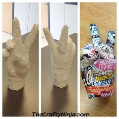 plaster hands. art project for kids.