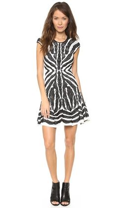 RVN Bengal Lace Jacquard Flare dress. Made in USAa