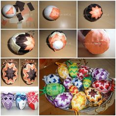 DIY Patchwork Decorated Easter Eggs | iCreativeIdeas.com Like Us on Facebook ==> https://www.facebook.com/icreativeideas
