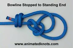 The Bowline Knot makes a reasonably secure loop in the end of a piece of rope. Paracord Knots, Rope Knots, Long Lashes, Eyelashes, Animated Knots By Grog, Scout Knots, Sailing Knots, Bowline Knot, Survival Knots