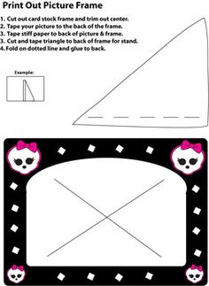 Monster High Frame, Monster High, Picture Frame - Free Printable Ideas from Family Shoppingbag.com