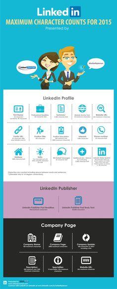 LinkedIn Maximum Character Count for 2015   www.LinkedJournal.com