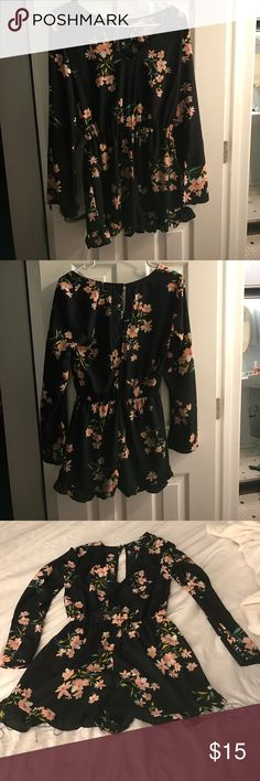 Urban Outfitters Romper. Good condition! ❤ Urban Outfitters floral romper. Cute with wedge heels ! 👠 Pins & Needles Other