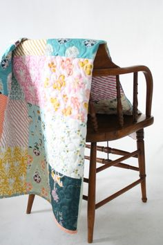 Patchwork Quilt made by Hungry Hippie using Fantasia Fabrics