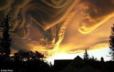 El batido en el cielo, con nubes reales, no añadidas.