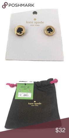 Kate Spade New York Spot The Spade Black Earrings item# 272931735345  100% Authentic Kate Spade! ♠️  Buy with confidence!  • MSRP: $32.00  • Style: O0RU1342  Features:  • Kate Spade NY Spot the Spade Earrings  • Color: Gold tone  • Black spade  • Comes with dust bag (Color of dust bag may vary)  Please feel free to ask any questions. Happy shopping! kate spade Jewelry Earrings