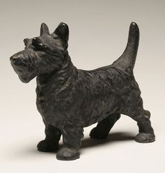Scottish terrier, Scottie, cast iron doorstop.