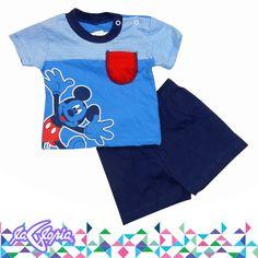 Los #Conjuntos más chiquitos, los tenemos en 3er.Piso #RecienNacidos #Niños #Camiseta #Short