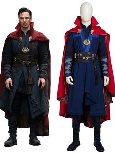This Doctor Strange Avengers Superhero Cosplay Costume includes cape, long vest, inner shirt, pants, belts, wrist guards, bandages. The shoes and necklace are extra. It is good choice for your Halloween, parties, Marvel lovers and so on. Halloween Cosplay, Cosplay Costumes, Cosplay Ideas, Doctor Strange Avengers, Superhero Cosplay, Avengers Superheroes, Long Vests, Spiderman, Marvel
