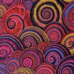 Spiral Shells Fabric - Spring 2015 Collection by Kaffe Fassett Collective