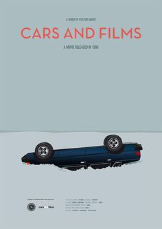 Poster of the car from Fargo. Illustration Jesús Prudencio. Cars And Films