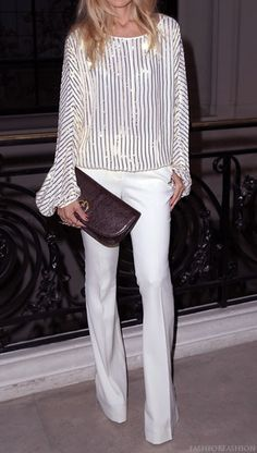 White. + sparkle -- perfect night out look