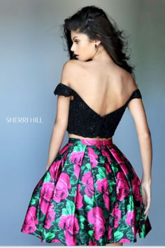 Sherri Hill has the most flattering and fashionable cocktail dresses to spice up your next party! Style 50774 available at WhatchamaCallit Boutique